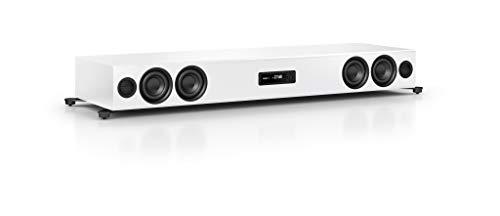 Nubert nuPro XS-7500 Soundbar | TV-Lautsprecher mit Bluetooth aptX HD | Soundbase für Streaming | Stereoboard mit 3.5 Wege Technik | aktive Soundplate für HiFi & Musikgenuss| Sounddeck Weiß