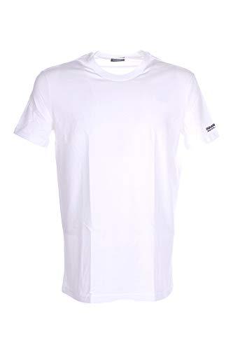 DSQUARED2 D9M203520 T-Shirt Manica Corta Uomo Bianco L