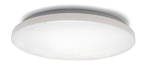 Flache LED Deckenleuchte mit Sternenhimmel und Glitzereffekt und Farbwechsel, rund, 35 x 5,5 cm, weiß, matt, 1440 lm, 24 W, IP20, V-TAC, für Wohn-, Schlaf- und Kinderzimmer
