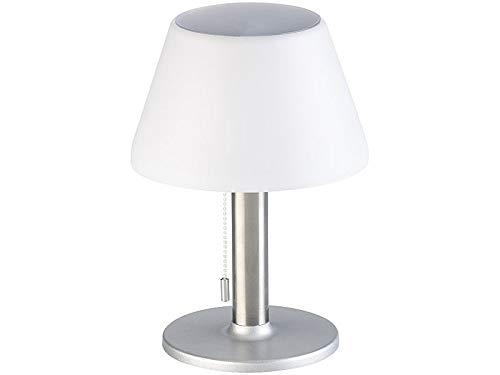 Luminea LED Solar Tischlampe: Dimmbare Solar-LED-Tischleuchte mit 150 Lumen, 5 Watt, Ø 20 cm, IP44 (Balkonleuchte)