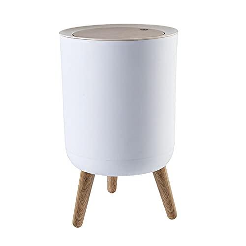 MERIGLARE Cubo de Basura Moderno Escritorio Cubierta de Prensa Oficina de Baño de Dormitorio de Pie Alto