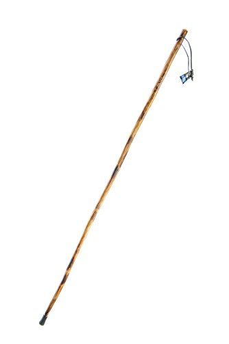 SE Survivor Series Wooden Walking/Hiking Stick with Hand-Carved Grizzly Bear Design, 55