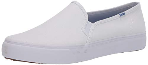Keds Womens Double Decker Canvas Sneaker, White, 8