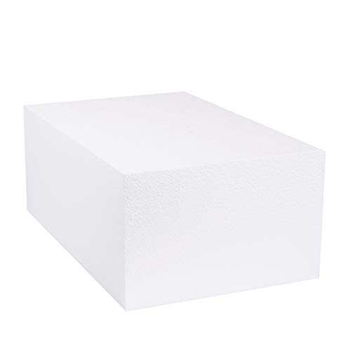 Silverlake Large Craft Foam Block - 11x17x7 EPS Polystyrene Blocks for Crafting, Modeling, Art Projects and Floral Arrangements - Sculpting Blocks for DIY School & Home Art Projects