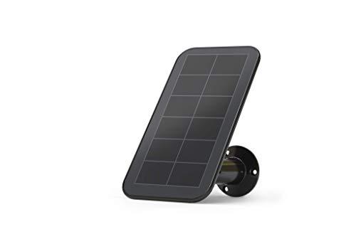 Arlo zertifiertes Zubehör | Solarladegerät (wetterfest, 2,44m magnetisches Ladekabel, verstellbare Halterung, nur mit Ultra, Pro3 & Floodlight Überwachungskamera kompatibel) VMA5600B, schwarz