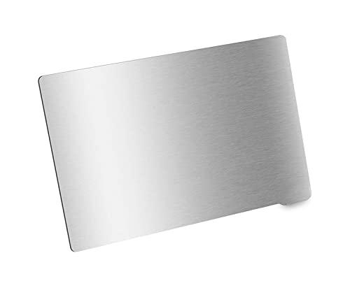 Neigei 1pc Piastra di Costruzione Flessibile in lamiera di Acciaio per Molle 202x128mm per Stampa in Resina Base Magnetica Flex Heatbed Stampante 3D fotonica Anycubic (Dimensioni: 135x80mm)