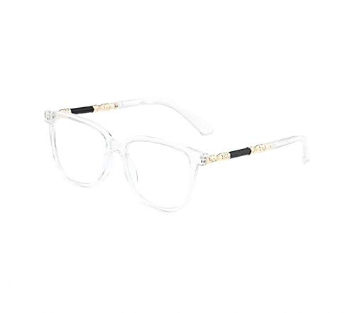 hqpaper Gafas de sol planas con montura cuadrada, gafas de moda del mismo estilo- # 3gris transparente_Color de la lente