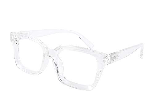 FEISEDY Gafas de bloqueo de luz azul de los hombres de las mujeres clásico grueso cuadrado borde marco gafas B2661
