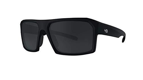 Óculos de sol SPLIT Carvin HB AdultoUnissex Preto Matte/Cinza polarizado Único