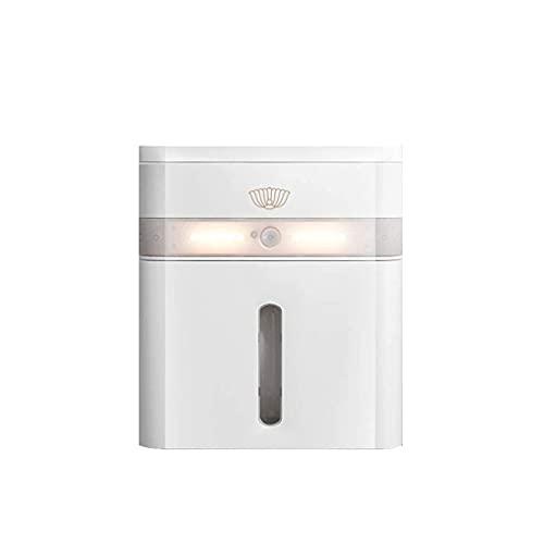 QAWSED Toalettrullehållare, handdukshållare toalett näsdukslåda kreativ gratis stans näsdukshållare vattentät smart induktion test stativ toalettpappershållare