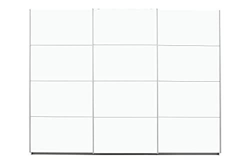 Rauch Möbel Caracas Schrank Kleiderschrank Schwebetürenschrank Weiß 3-türig inkl. Zubehörpaket Basic 3 Einlegeböden, 3 Kleiderstangen, BxHxT 271x210x62 cm