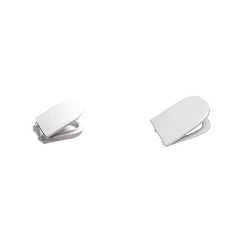 Roca A801360004 Pint Meridian - Asiento de inodoro, Blanco + A801327004 Asiento y Tapa, Coleccion Dama Retro, Color Blanco