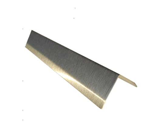"""1 1/2"""" x 1 1/2"""" x 48"""" Stainless Steel Corner Guard, Includes Adhesive, Pack of 10 Units"""