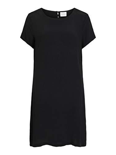Vila NOS Viprimera S/s Dress-Noos Vestido, Negro, 38 para Mujer