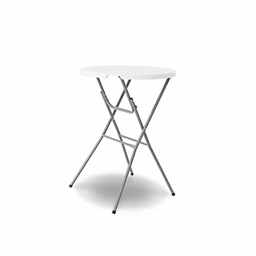 Alices Garden Table Haute de réception – Gala – Mange Debout. Pliable. Ø80cm x 110cm