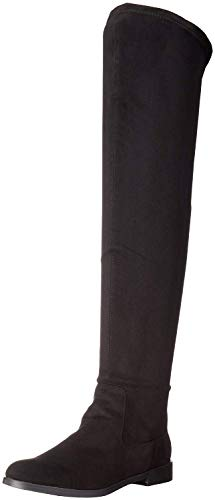 Kenneth Cole REACTION Women's Wind-y Over The Knee Stretch Boot, Black, 9.5 M US