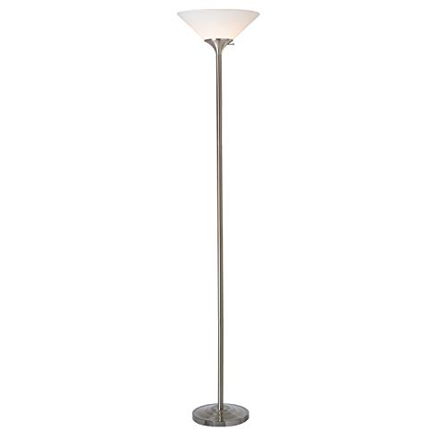 Normande Lighting 23W CFL Torchiere Lamp, Brushed Steel