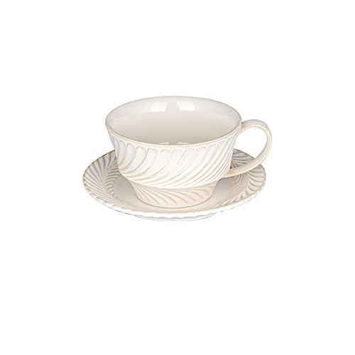 Taza Y Platillo De Café Con Leche De 250 Ml, Taza De Mango De Leche Para El Desayuno Con Plato De Postre, Regalo Tazas Personalizadas Originales Graciosa Tazas Dia Del Padre