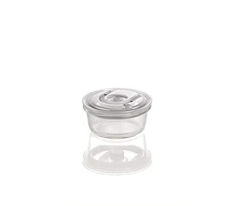 CASO VacuBoxx RS - rund 370ml - hochwertiger Design Vakuumbehälter, BPA-Frei, mikrowellengeeignet, hitzebeständig, spülmaschinengeeignet