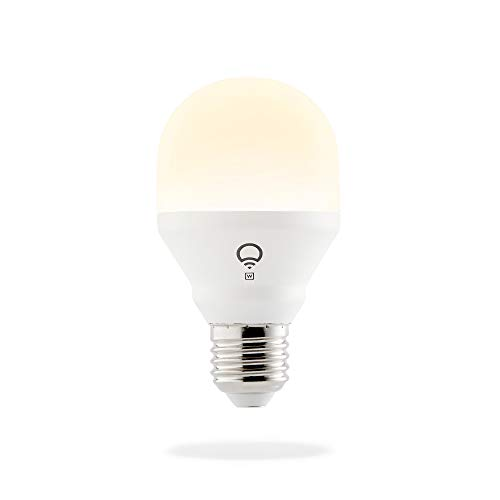 LIFX Mini White E27 Lampadina a LED Wi-Fi Smart, Regolabile, Bianco Caldo, non Richiede un Hub, Funziona con Alexa, Apple HomeKit e Google Assistant