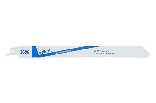 Wolfcraft 2696000 - Pack de 2 hojas de sierra de sable bimetal, cortes finos (210 mm)