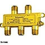 4 Way Digital Gold Plated HDTV Splitter- Cable Splitter