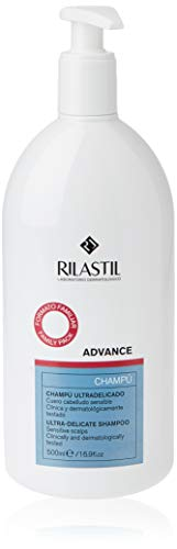 Rilastil Advance - Champú Ultradelicado para Cuero Cabelludo Sensible - Formato Familiar de 500 ml