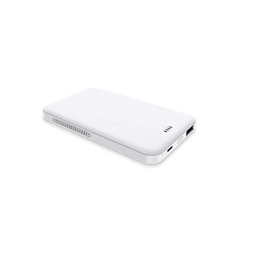 MYXE Caricabatterie Wireless Portatile in Lega di Alluminio 4000mAh Power Bank per iPhone 12 Batteria Esterna Portatile Powerbank per Xiaomi Samsung (Color : White)