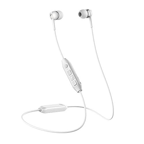 Auricular Sennheiser CX 350BT WH Wireless con tirilla al Cuello, Blanco, In Ear