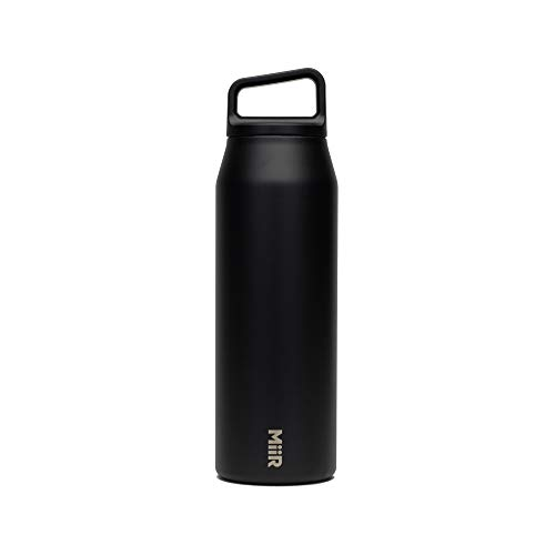 MiiR, Insulated Wide Mouth Bottle with Leak-Proof Screw Top Lid, Black, 32 Oz