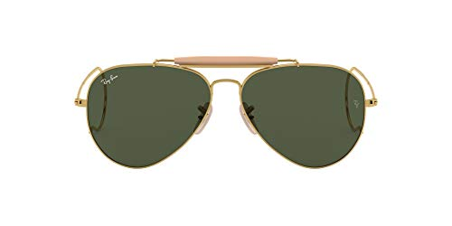 Ray-Ban Rb 3030 Occhiali da sole, Oro (Gold), 58 mm Unisex-Adulto