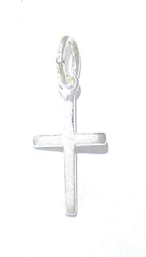 Kleines, schmales Kreuz aus 925 Silber, matt