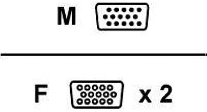 Belkin 6ft Y Vga Monitor Splitter Hddb15m to 2 Hdd15f