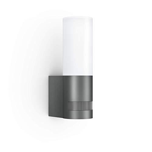 Steinel Außenleuchte L 605 LED-Sensoraußenleuchte, 180° Bewegungsmelder mit 10m Reichweite, 9.5 W, 600 lm, Aluminium, Anthrazit