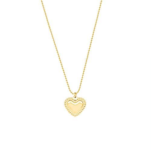 YQMJLF Collar Moda Accesorios Mujer Collares Amantes de melocotón corazón en Forma de corazón Amor Collar Pulsera Conjunto de Joyas de Acero de Titanio Mujer Joyas Navidad cumpleaños Regalo