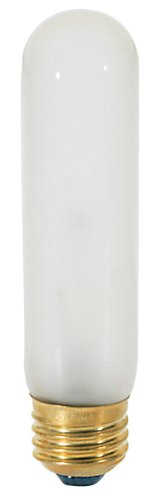 Satco 40 Watt 280 Lumens T10 Incandescent Brass Medium Base 120 Volt Light Bulb, Dimmable