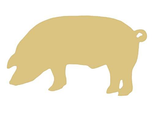 Pig Cutout Unfinished Wood Farm Bacon Hog Livestock Ranch Western MDF Shape Canvas Style 2