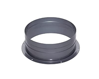 Duct Connector Flange Metal Straight Pipe Flange for Heating Cooling Ventilation System 4/6/8 Inch