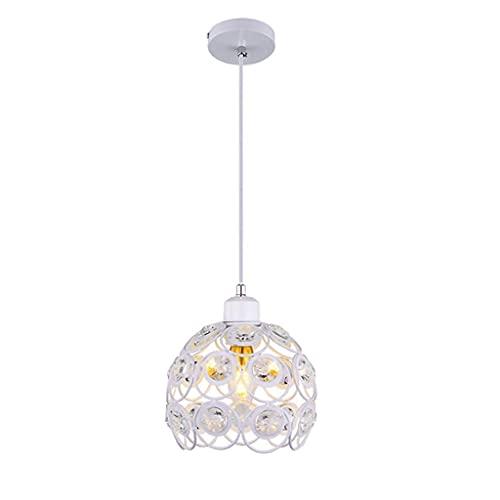 XKUN Lámpara de Araña de Cristal Creativa Mesa de Comedor Restaurante Isla Lámpara Colgante Accesorio Redondo Pasillo Dormitorio Lámpara Colgante de Cabecera Pantalla de Cristal Lámpara de Decoración
