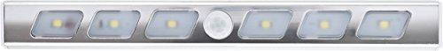 Müller Licht LED batterijlamp staafvorm met bewegingsmelder aluminium incl. 3 x AAA batterij ML400083