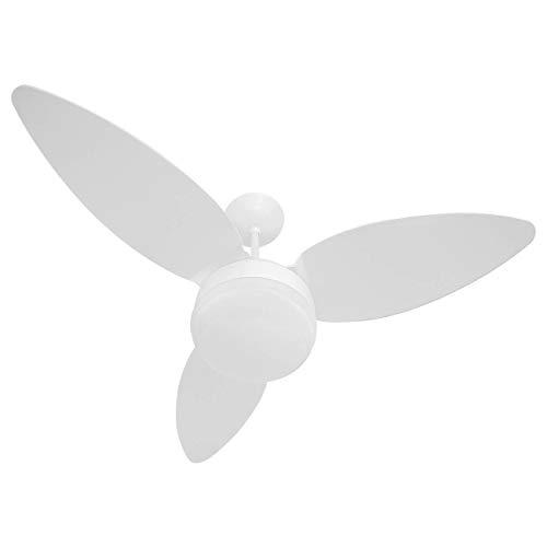 Ventilador De Teto Zonda Branco Para 2 Lâmpadas Luxo Ponente 220v