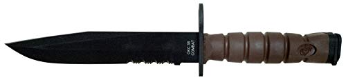 Ontario OKC3S Marine Bayonet, Tan Handle, Black Blade, w/Sheath