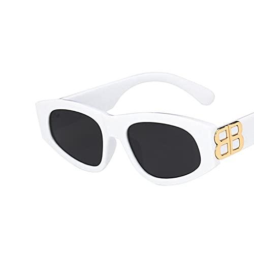 GAOTIAN Gafas de Sol Gafas de Sol Retro para Mujeres Hombres Lujo Pequeño Marco Moda Vintage Gato Ojo Gafas de Sol UV400