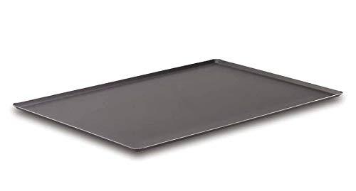 Lacor - 68660 - Placa Horno Aluminio con Antiadherente 60x40-Negro