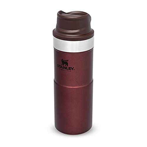 Stanley Trigger Action Travel Mug 0.35L / 12OZ Wine – Leakproof - Tumbler for Coffee, Tea and Water - BPA FREE - Stainless-Steel Travel Cup - Dishwasher Safe (0.35l Mugs)