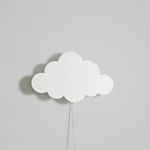 Rishx Macaron Cloud Balloon Bedside Applique Murale Lumière Cartoon Chambre Lampe En Métal Lampe En Métal Danois Garçons Filles Chambre Fixé Au Mur Éclairage LED (E14) (Color : White-Cloud)