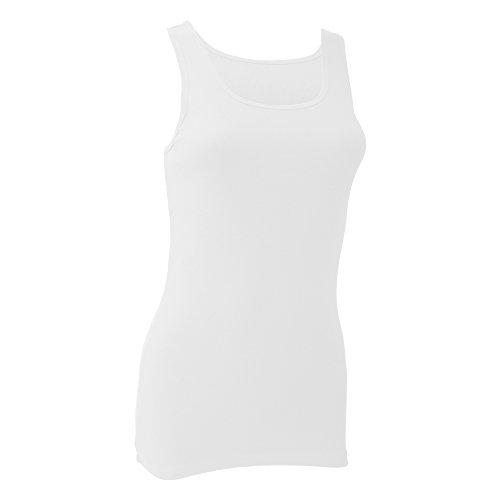 Bella- Camiseta de Tirantes para Chica/Mujer (Extra Grande (XL)) (Blanco)