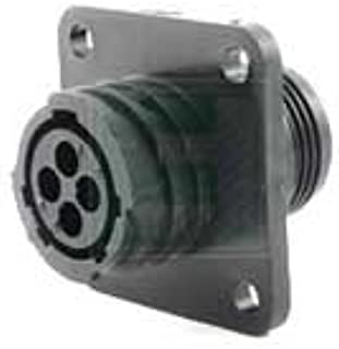TE CONNECTIVITY 206430-1 CPC Series 1 Panel Mount Receptacle 4 Position Circular Plastic Connector - 5 Item(s)