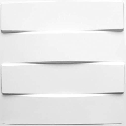 Panel de Pared 3D Vaults | Para Decoratión de Pared 3D | 12 Paneles Decorativos 3D de Pared 50x50cm, 3 m² | Revestimiento de Paredes 3D WallArt | Paneles 3D, 3D Decorativo de la Pared Interior Paneles