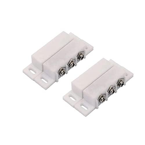 Berrywho Sensor de Contacto del Interruptor de láminas Alarma Normalmente Abierto Cerrado NC NA Puerta de la Ventana de Conjunto de Seguridad CC 5V 12V 24V